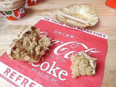half eaten cola cupcake