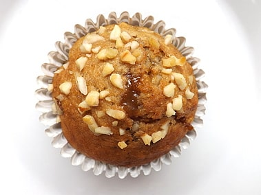 close up of the top of a muffin