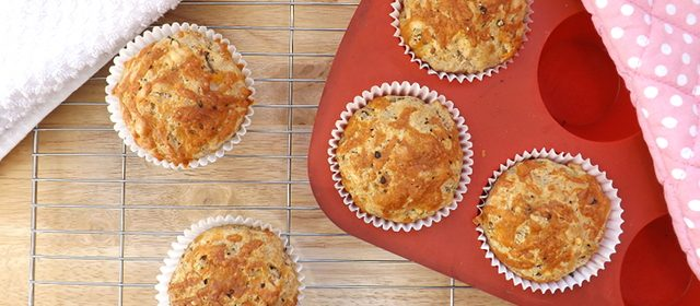 Cheese and Onion & Chive Muffins