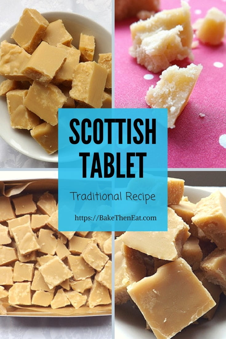 Traditional Homemade Scottish Tablet - easy to follow recipe with only 4 ingredients | BakeThenEat.com