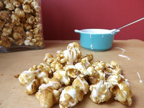Cinnabon popcorn with cinnamon glaze