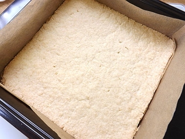 the shortbread out of the oven and cooling