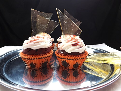Halloween Broken Glass Cupcakes