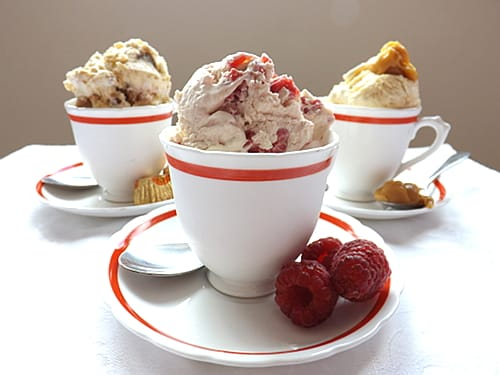 Raspberry no churn ice cream