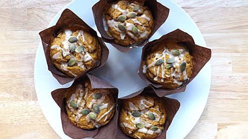 Soft Tender Pumpkin Banana Muffins
