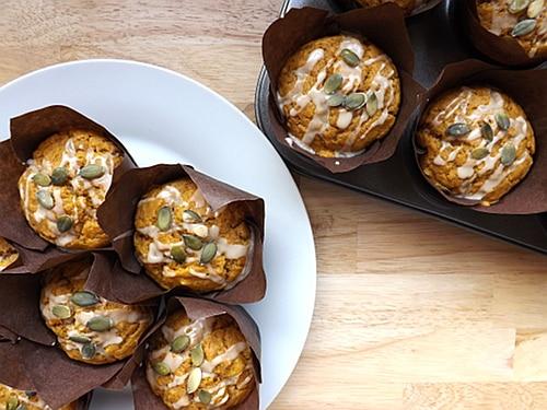 Pumpkin and Banana muffins