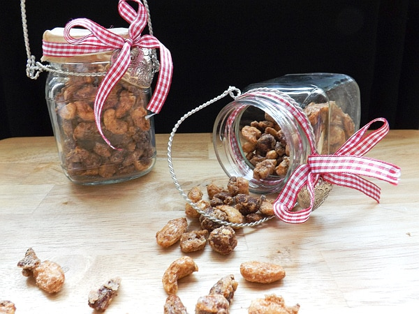 Salty Cinnamon Sugar Candied Nuts