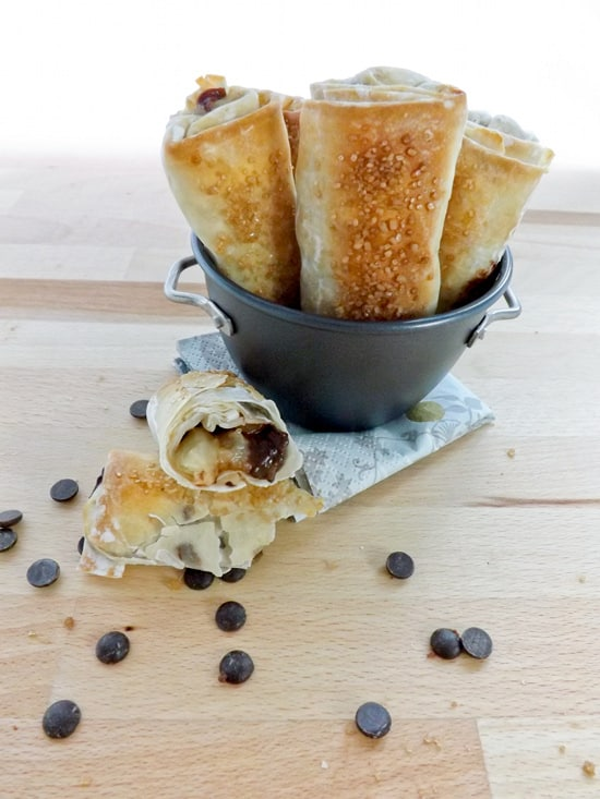 Dark Chocolate, Star Anise & Pear Spring Rolls