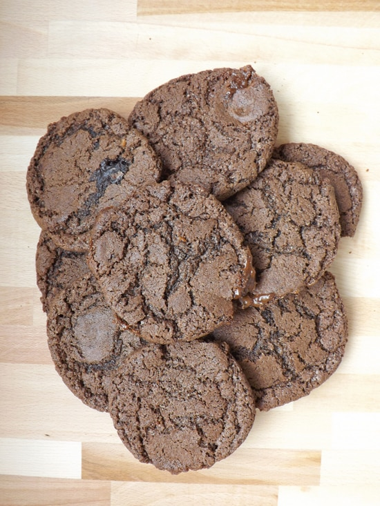 Chocolate Rolo Cookies