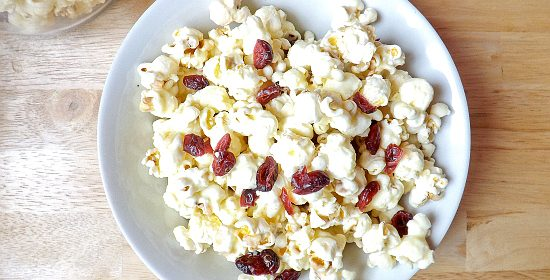 White Chocolate and Cranberry Popcorn