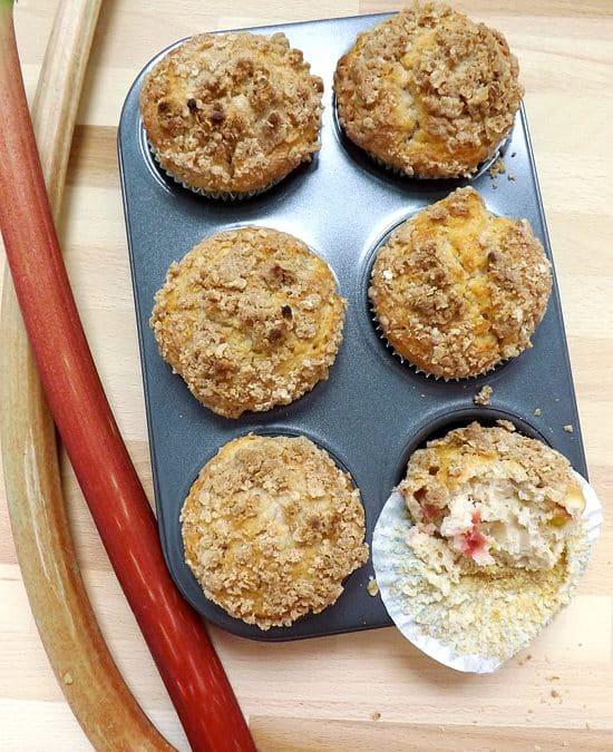 Dessert Mash Up Rhubarb Streusel Muffins