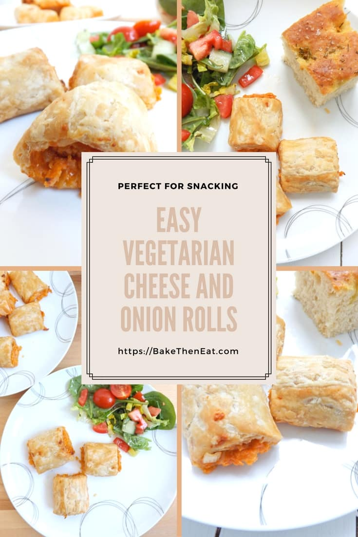 Cheese and Onion Rolls - perfect for snacking on and adding to lunch boxes. Easy to follow recipe | BakeThenEat.com