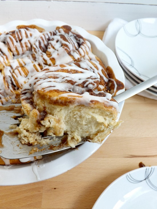 banana fudge sweet rolls
