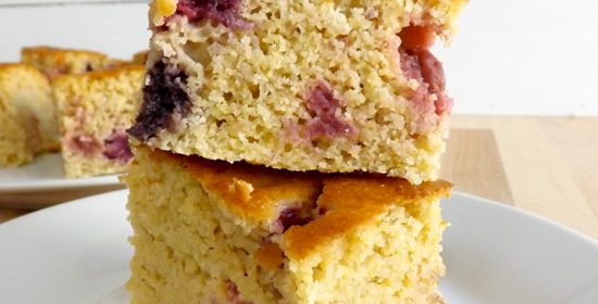 Summer Berry Cornbread