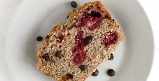 Raspberry Buttermilk Loaf with Dark Chocolate Chips