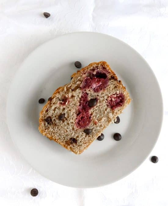 Raspberry Buttermilk Loaf with Dark Chocolate Chips