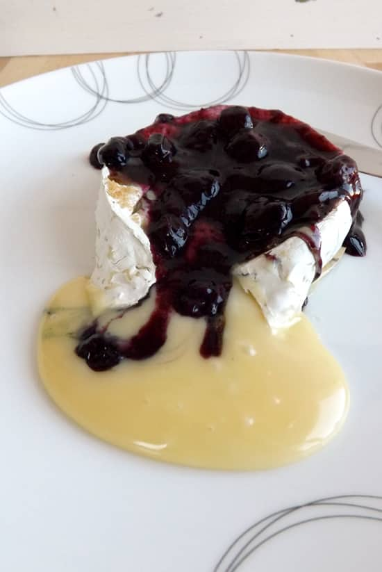 Baked Camembert With Homemade Blueberry Compote
