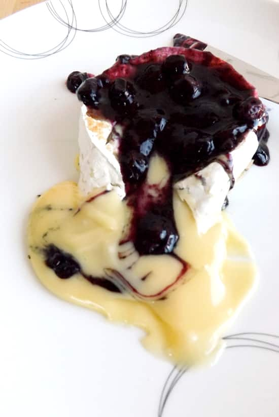 Small Baked Camemberts With Homemade Blueberry Compote