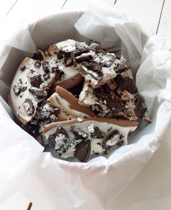 Cookies and Cream Chocolate Bark