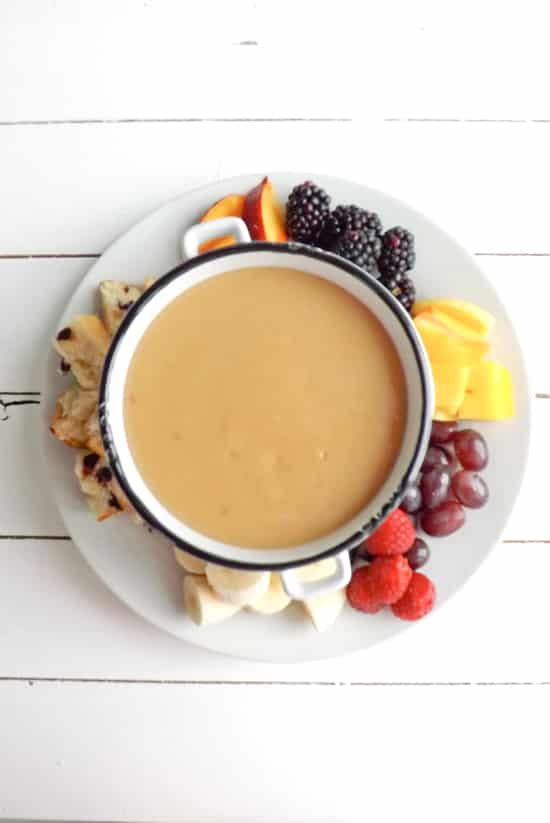 slow cooker butterscotch fondue