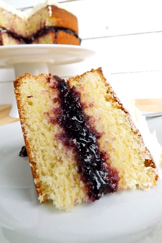 Lime Infused Victoria Sponge with Blueberry Jam