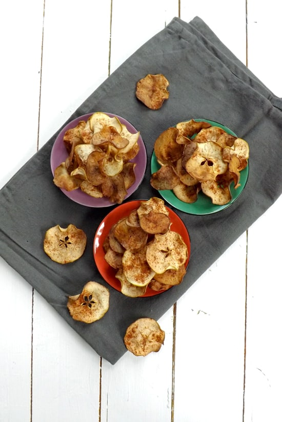 Apple Chips Sprinkled With Homemade Pumpkin Pie Spice