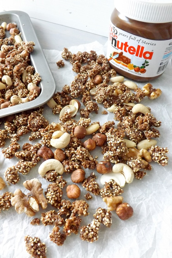 Homemade Nutella Granola