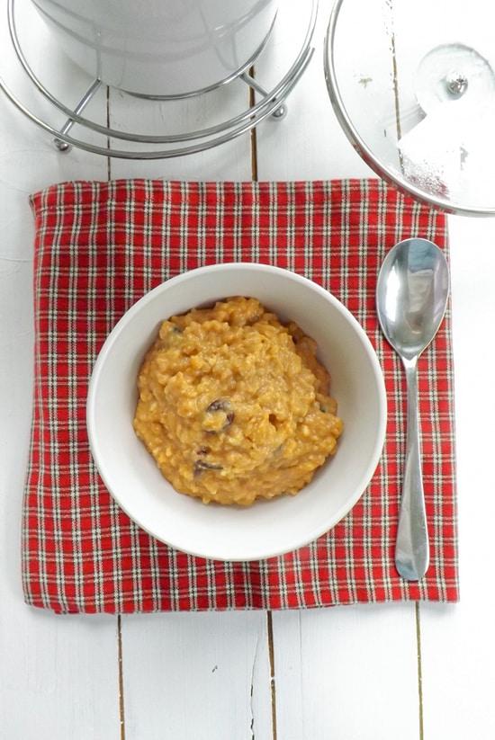 Slow Cooker Pumpkin Pie Rice Pudding