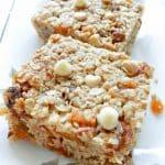 Apricot and White Chocolate Chip Granola Bars
