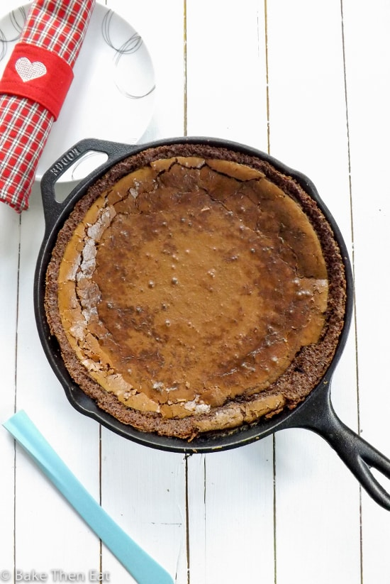Skillet Brownie Cookie Cake