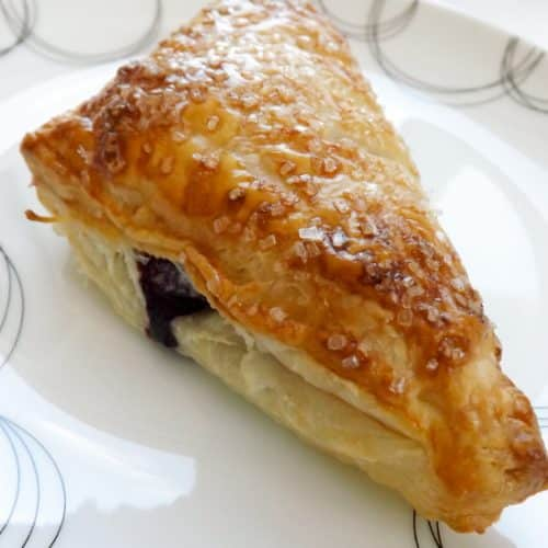 Peanut Butter and Homemade Blueberry Jam Turnovers