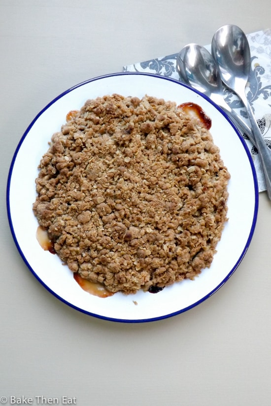 persimmon and apple crumble