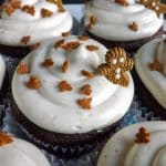Gingerbread Cupcakes with Ginger Cream Cheese Frosting