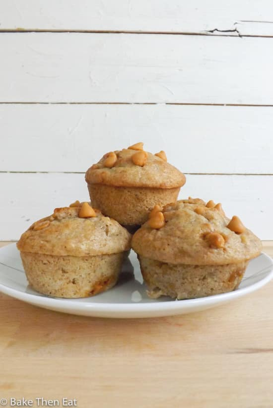 Banana and Butterscotch Muffins