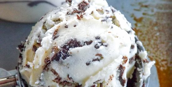 Homemade Mint Choc Chip Ice Cream