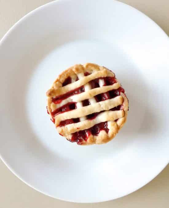 Apple and Raspberry Mini Fruit Pies