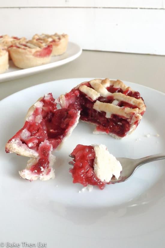 Apple and Raspberry Mini Pies