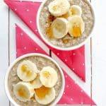 Maple Banana Overnight Oats {Vegan and GF}
