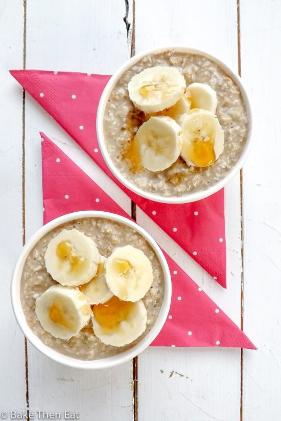Maple Banana Overnight Oats {Vegan and GF}