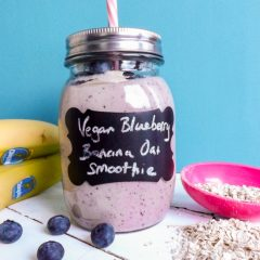 Blueberry Banana Smoothie {Vegan and GF}