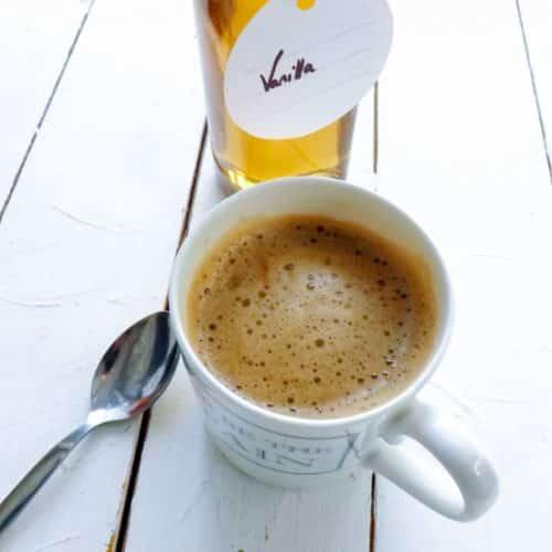 Homemade coffee syrups