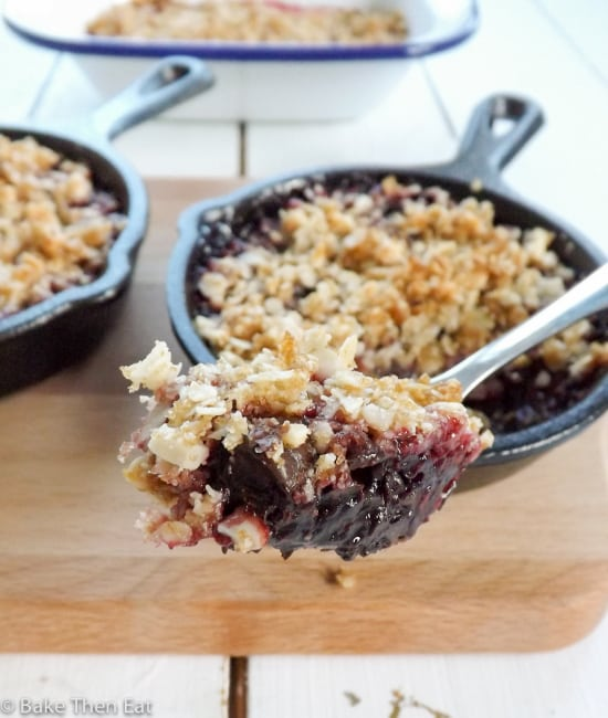 Simple Gluten Free Raspberry and Dark Chocolate Crisp