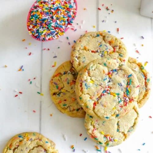 Amazing Cake Batter Funfetti Cookies
