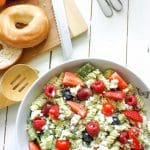 Healthy Creamy Sweet and Savoury Avocado Berry Salad