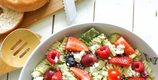 Healthy Creamy Sweet and Savoury Avocado Berry Salad