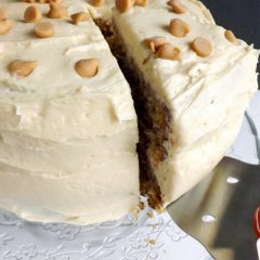 Light and Fluffy Peanut Butter Banana Layer Cake