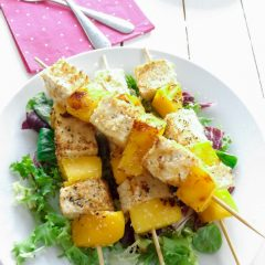 Lovely Vegan Coconut Lime Tofu and Mango Kebabs