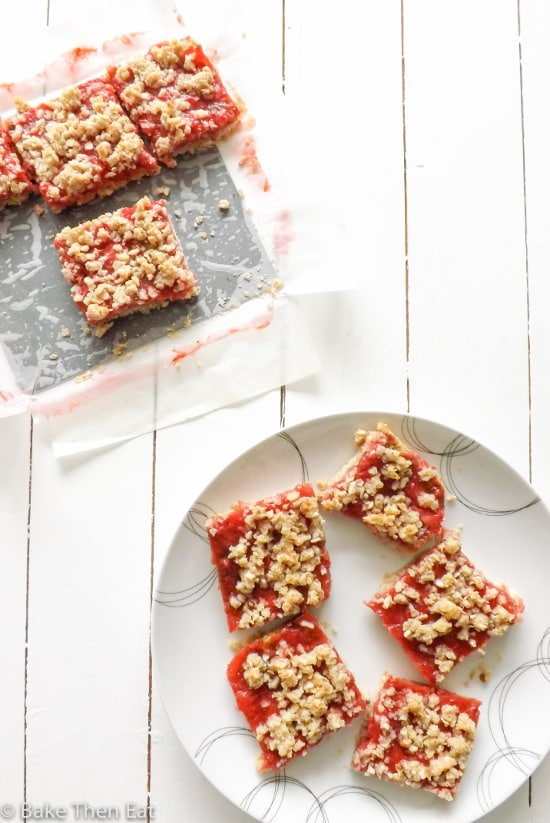 Easy Gluten Free Fresh Strawberry Crumb Bars