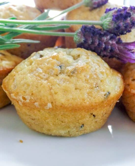 Banana Lavender Muffins