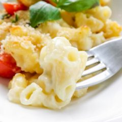 Caprese Inspired Three Cheese Macaroni
